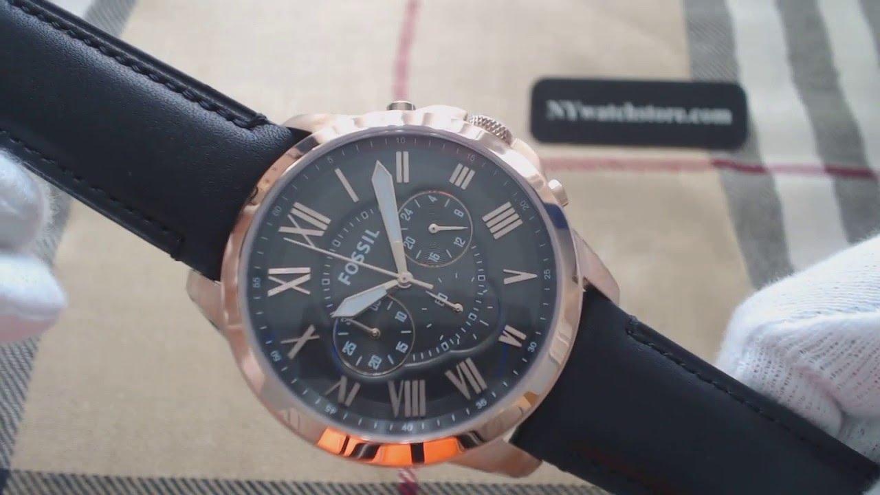 Test Fossil Men Gunmetal Toned Dial Chronograph Watch Fs5085